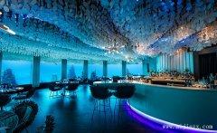 蓝色艺术风情的海洋主题餐馆装修效果