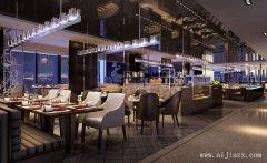 现代雅逸的时尚个性餐馆装修效果图