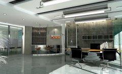 清爽舒适的现代简约风格办公室装修效