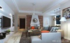 郑州时尚简约北欧风格两居室装修效果
