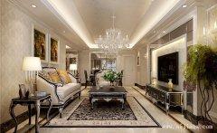 郑州120平米简约欧式风格三居室装修效