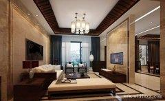 郑州新中式风格三居室装修效果图