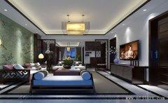 郑州新中式风格一居室装修效果图