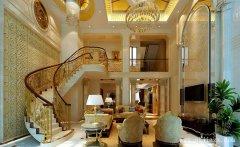 金碧辉煌的380平米华丽欧式风格别墅装
