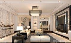 黑白经典的377平米大气新中式风格别墅