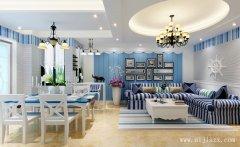 简约纯美的希腊地中海风格客餐厅装修