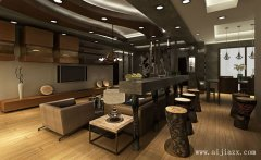 舒适木质的创意后现代风格客餐厅装修