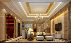 雍容华美的白色欧式风格别墅装修效果
