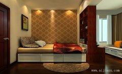 郑州舒适新中式风格卧室装修效果图