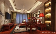 郑州238平米的质朴古雅中式风格别墅装