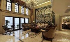 郑州大气奢华欧式风格复式装修效果图