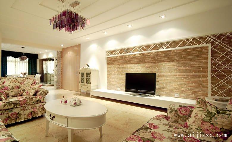dan雅舒适的tian园风格客厅zhuang修效果图