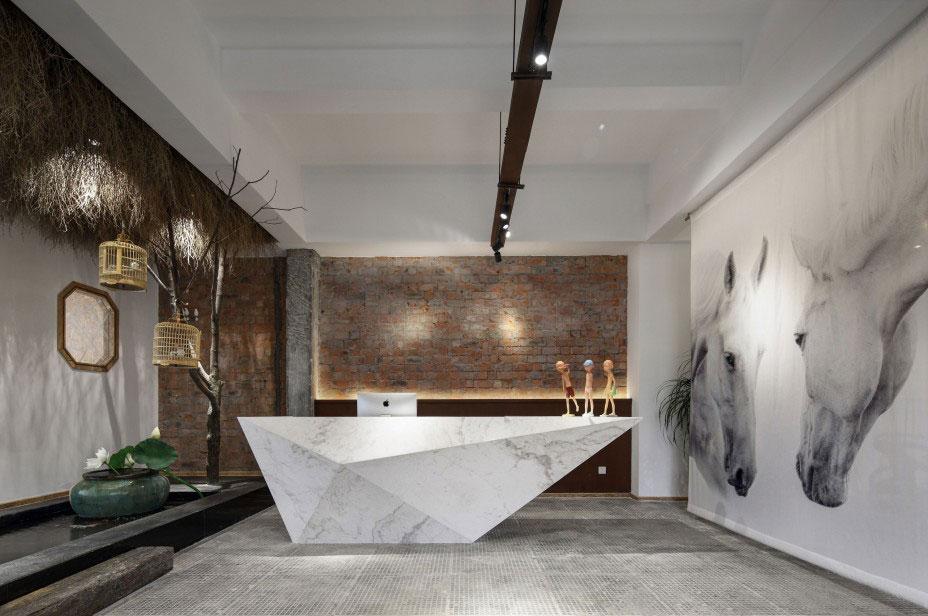 郑州高新区800平办公室设计装修案例