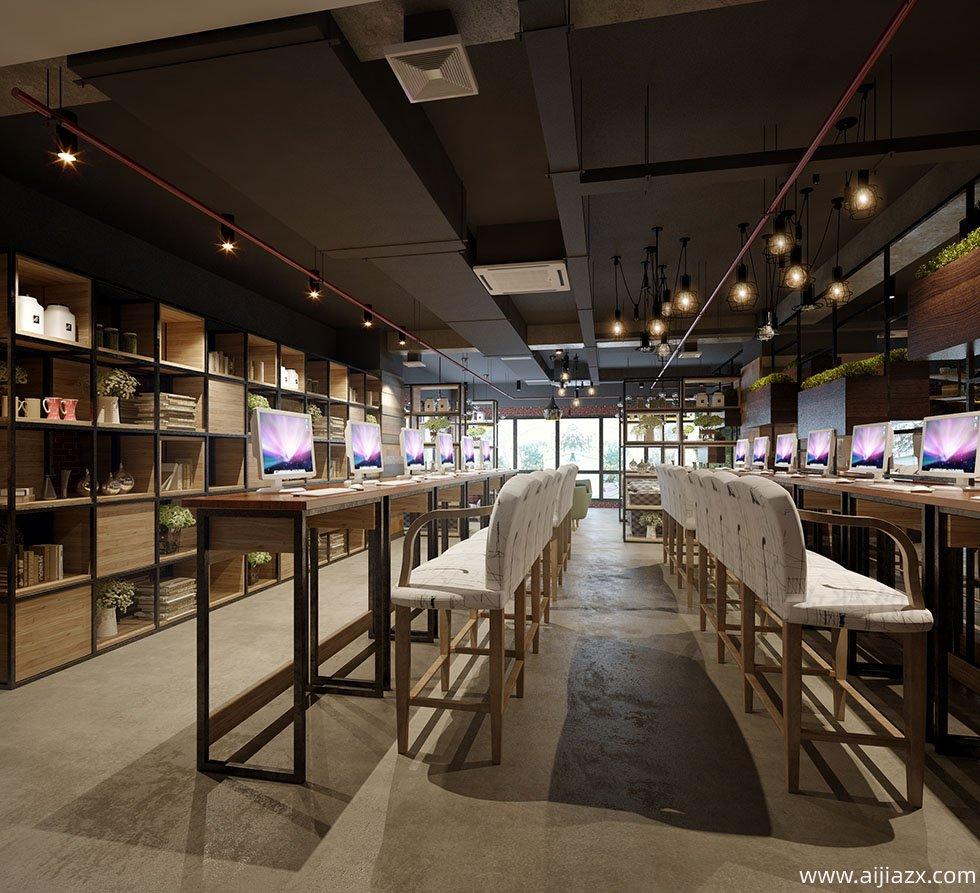 郑州网咖装修设计-上网冲浪区