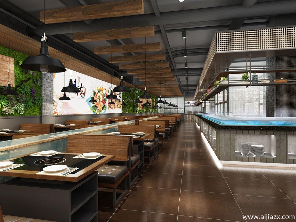 宜鼎鲜巴西自助餐厅装修设计效果图